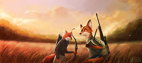 Last of Us (Foxes) by Virnavus