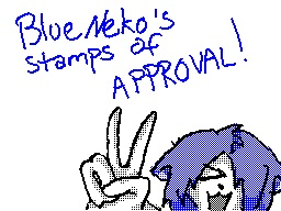 BlueNeko's Stamp of Approval by Neko442