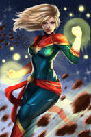 Captain Marvel by jaylospekaza
