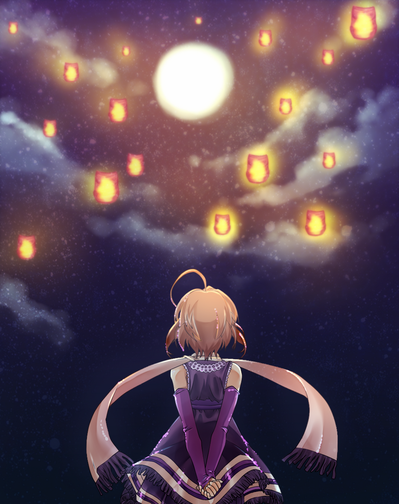 Lanterns in the night sky by Friday70 on DeviantArt