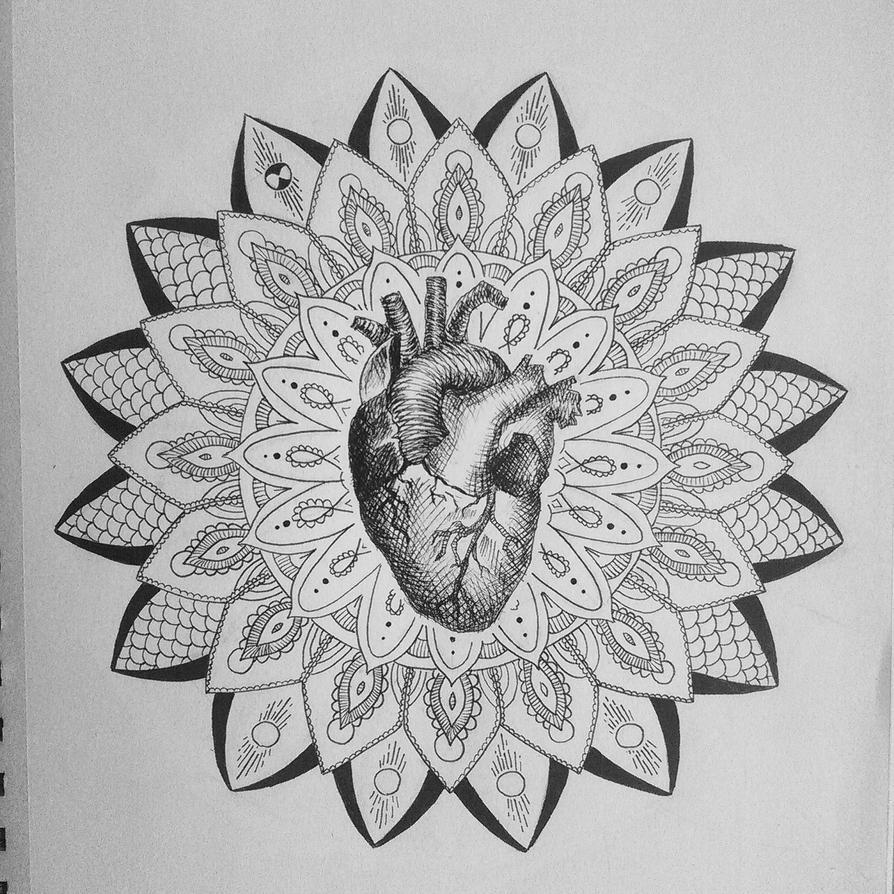 Human heart mandala by Friday70