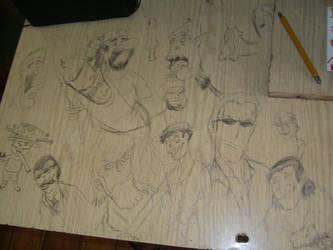 My deskwork by Szczery
