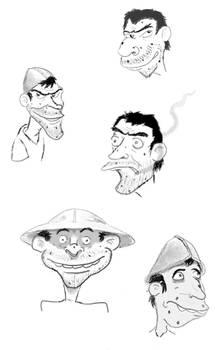 Various Nobby Nobbs' Sketch