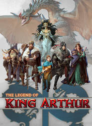 The Legend of King Arthur cover lineup by BrendaVV