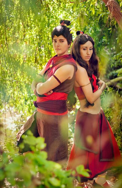 Sokka and Katara Fire by TemaTime