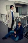Dean Winchester and Castiel