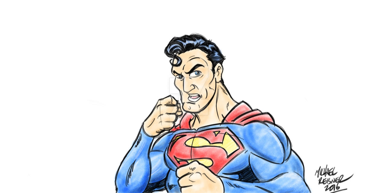 Superman Boxer by mikereisner