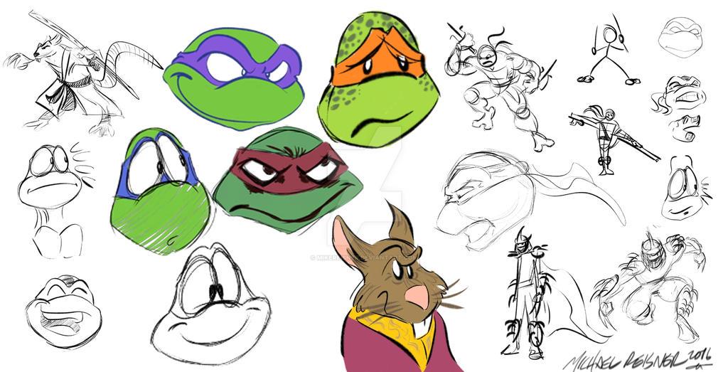 TMNT doodles by mikereisner