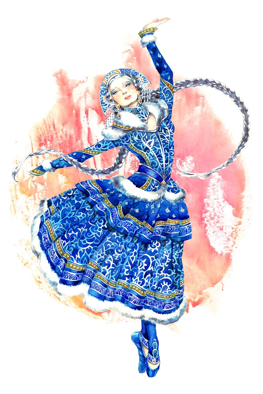 - Snow maiden - by Losenko