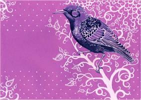 - Violet postal starling - by Losenko