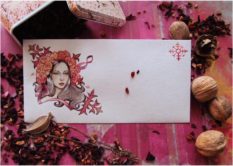 - Envelope - Red Tea - by Losenko