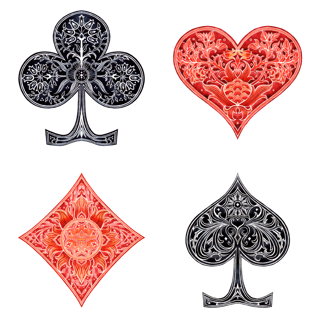 Card suits by losenko on deviantart for Tattoo art club