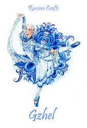 - Russian crafts - Gzhel -
