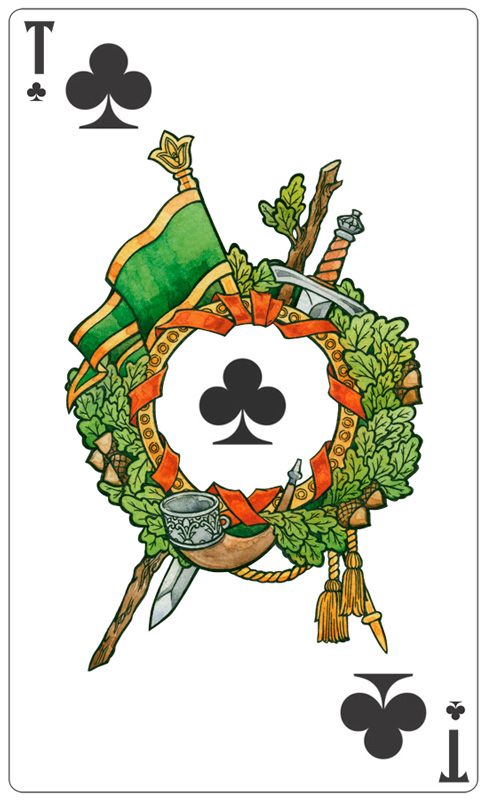 - Ace of Clubs (color) - by Losenko