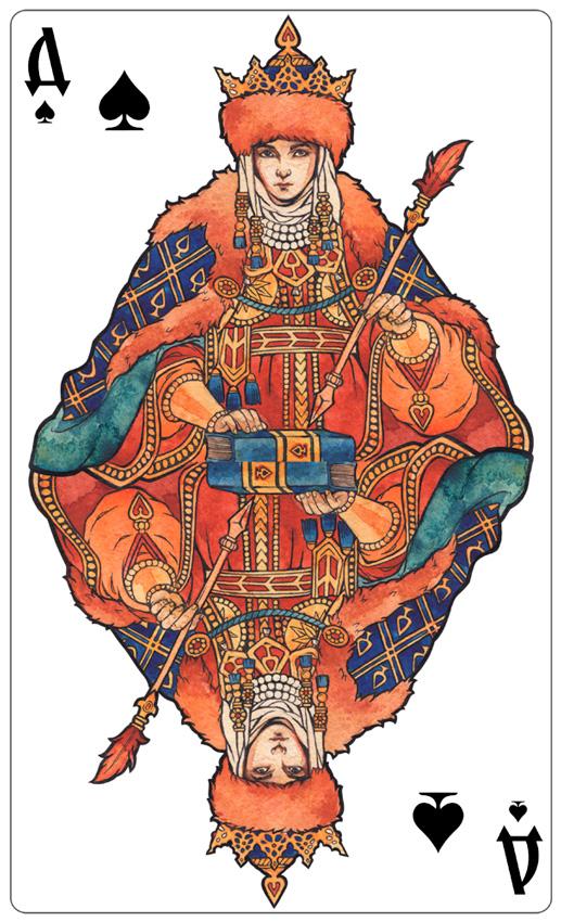 - Queen of Spades (color) - by Losenko