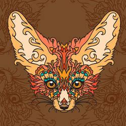 - Magic Fox - print - by Losenko