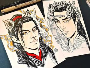 Fox and Dragon