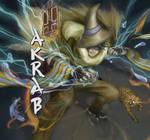Battle Professor Akrab by Luvira