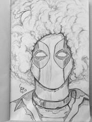 Deadpool x Bob Ross by choppre