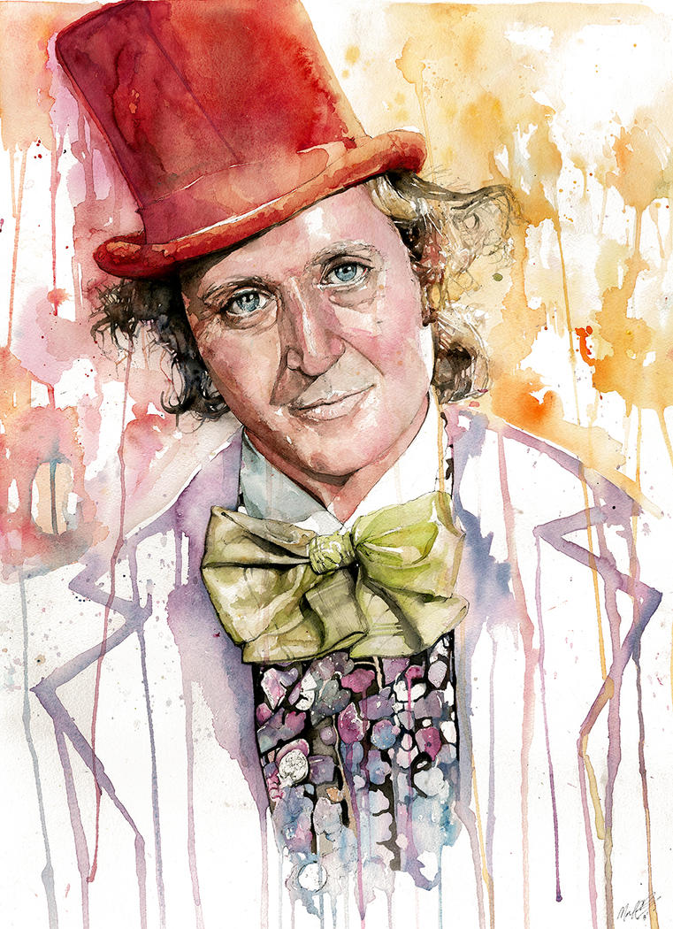 Gene Wilder as Willy Wonka by MichaelPattison