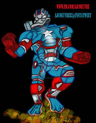 Donald Duck War Machine Iron Patriot