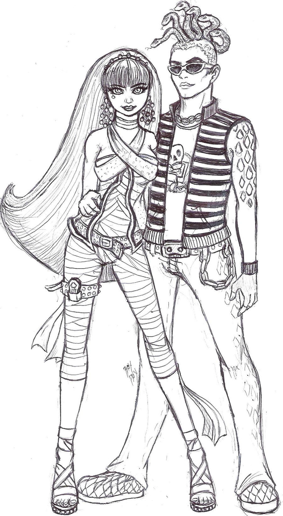 cleo and deuce coloring pages - photo#6