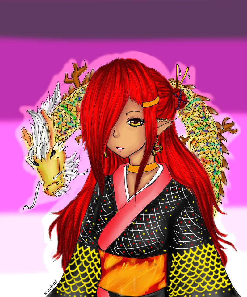 Lady Dragon by SilverWinge