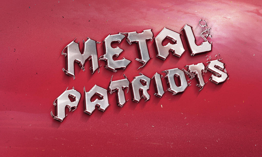 Typographical ArtWork Metal Steel Patriots by JCHARLIE