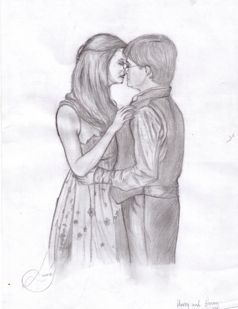 harry and ginny by lumosm on deviantart excellent harry potter coloring page - Harry Potter Coloring Pages Ginny
