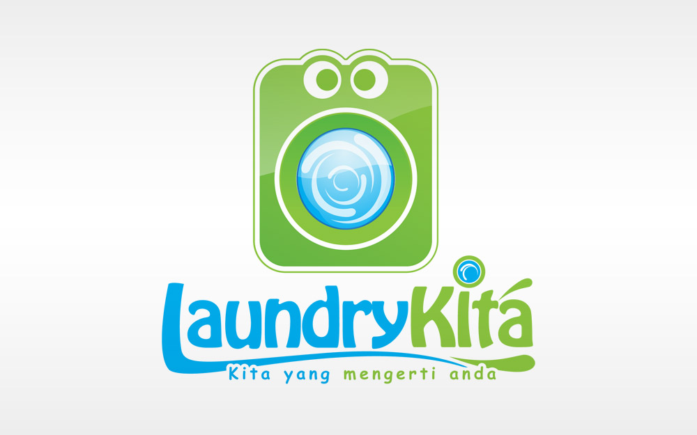 Laundry Kita Logo by vrozzycreative on DeviantArt