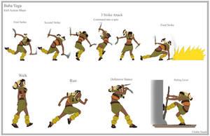 Girl Action Sheet by dustsplat