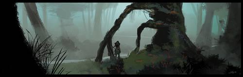 Misty Forest Concept by dustsplat