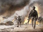 Modern War Illustration