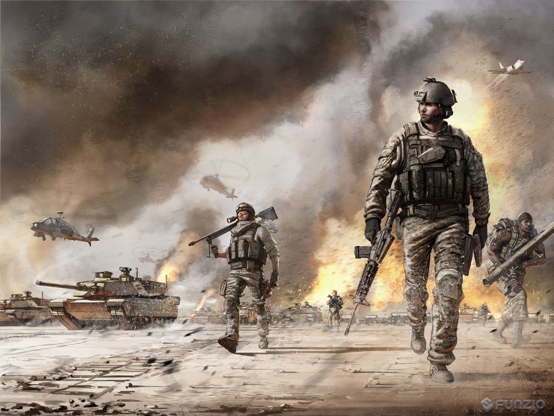 Modern War Illustration