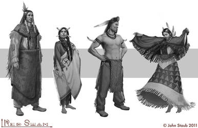 The Red Swan - Various characters