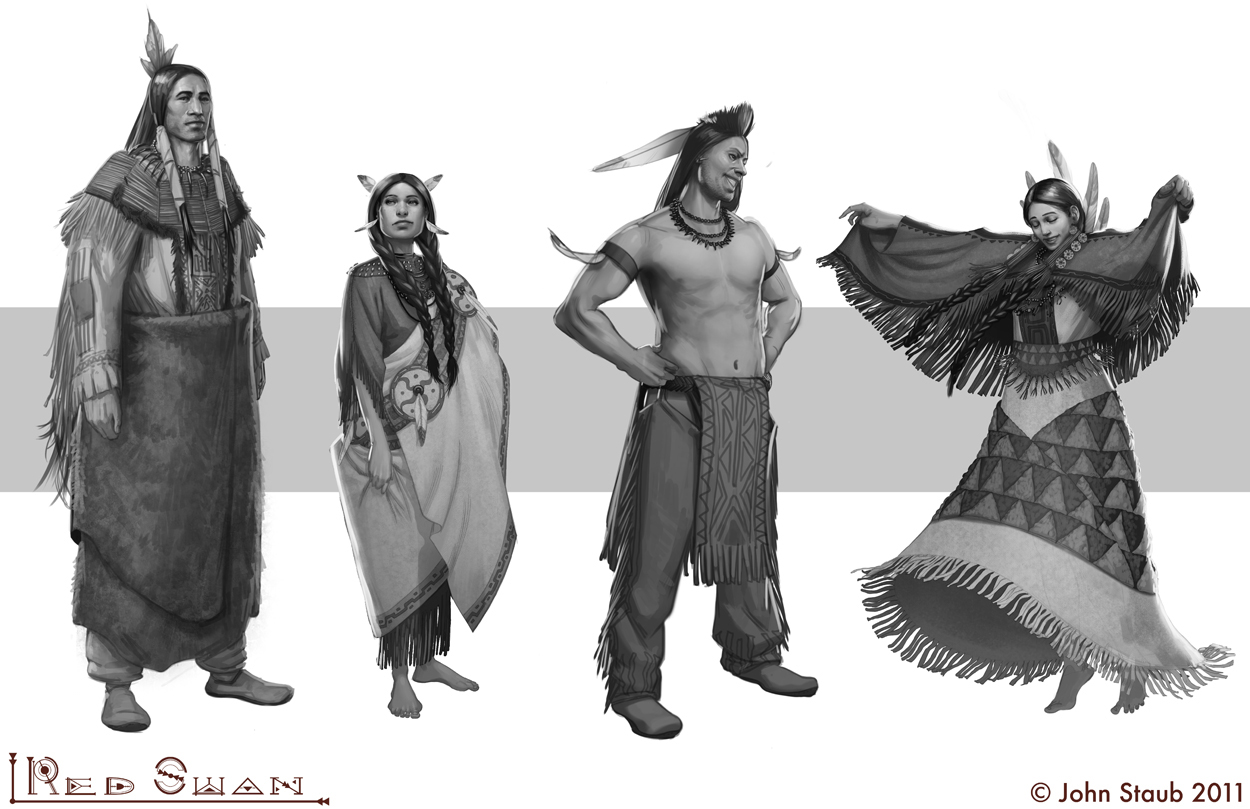 The Red Swan - Various characters by dustsplat