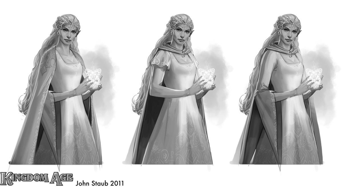Kingdom Age - Elf Sketches part2 by dustsplat
