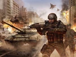 Modern War Illustration v2 by dustsplat