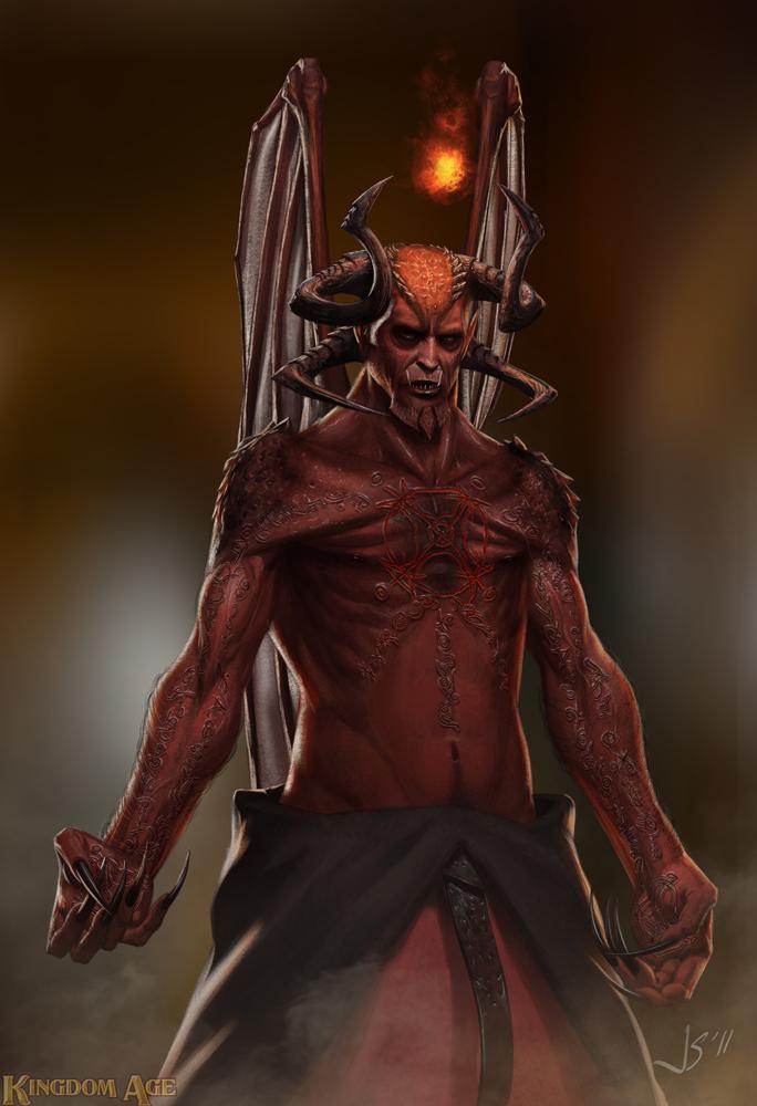 Kingdom Age - Malik - demon form by dustsplat