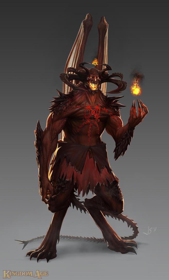 Final Demon Form By Dustsplat On
