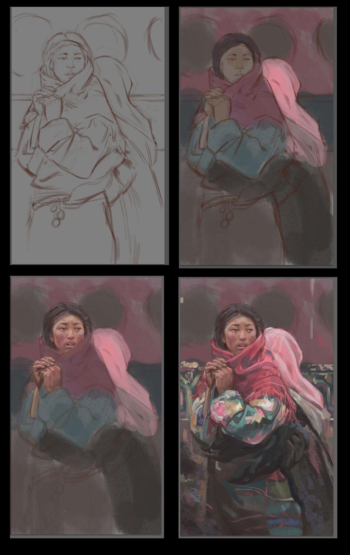 Burdick Study process shots by dustsplat