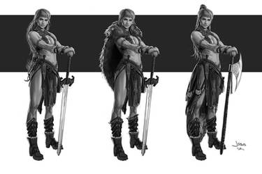 Warrior Girl sketches