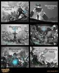 Monster Quest Illustration sketches