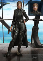 Female Commander concept by dustsplat