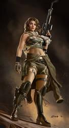 Female Commando character class by dustsplat