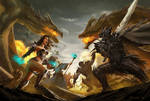Dragon Realms title screen illustration