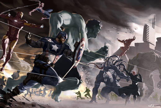 Marvel Avengers sketch by dustsplat