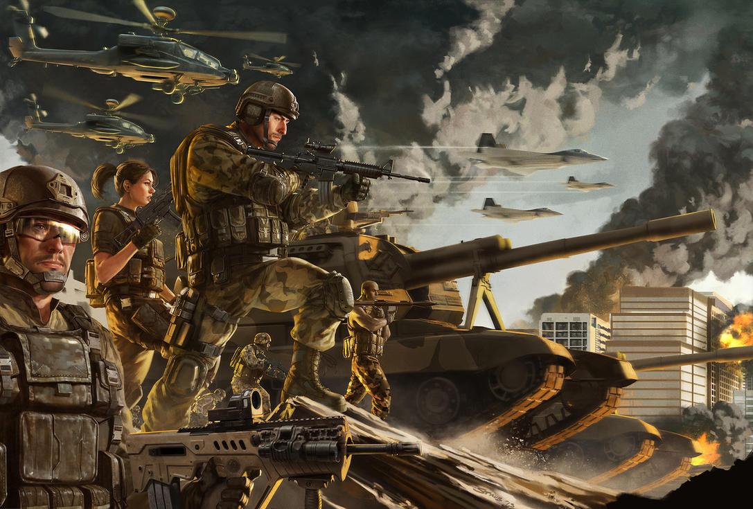 Modern War Illustration By Dustsplat