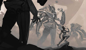 Giant mech sketch theme of the week