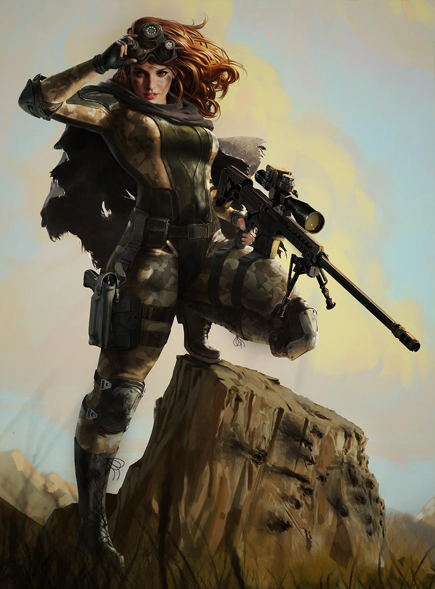 Sniper girl by dustsplat